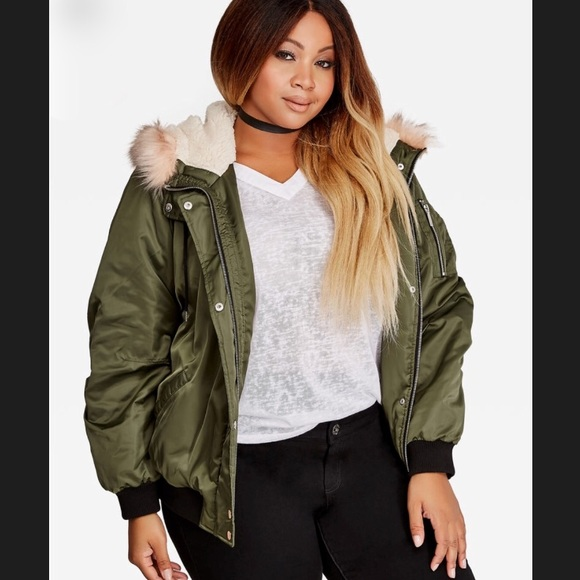 94bb5a0289 Olive green satin bomber jacket! NWT!